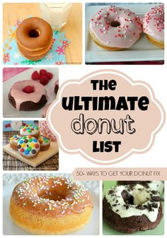 The Ultimate Donut List - Crumbs and Chaos