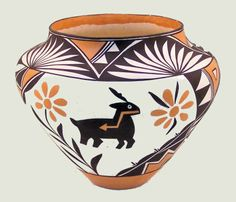 Native American Acoma pottery.
