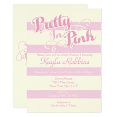 Pretty in Pink Baby Shower Invitations