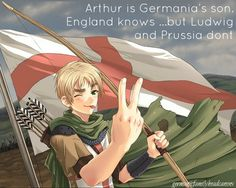 Arthur/England, Ludwig/Germany, Gilbert/Prussia  -Hetalia (I love this picture)