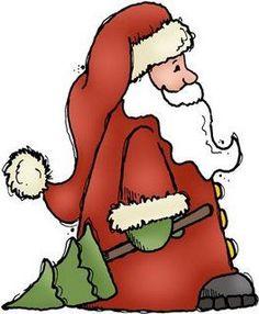 Dibujos papa noel con abeto para imprimir Santa Claus Clipart, Santa Claus Images, Christmas Colors, Christmas Holidays, Christmas Ornaments, Christmas Patterns, Decoupage, Kit Scrapbook, Santa Coloring Pages