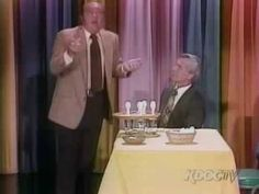 Comedy segment with Johnny Carson and Dom DeLuise. Dom DeLuise sets up an elaborate sleight of hand trick with eggs. Johnny thinks he's in on the gag when things suddenly turn into an impromptu food fight. From The Tonight Show with Johnny Carson. Great Videos, Videos Funny, Hilarious Stuff, Here Comes Johnny, Hand Tricks, My Favorite Year, The Philadelphia Story, Johnny Carson, Make Smile