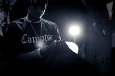 Tyga wearing the Neff Yes I'm From Compton Tee