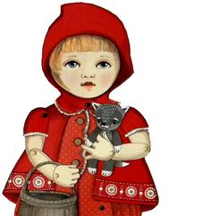 Little Red Ridinghood DIY Articulated Paper by cartbeforethehorse, $12.00