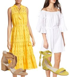 Eyelet tops and dresses are perfect for spring days.