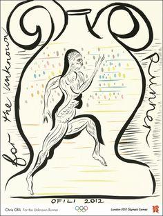 2012年 @London,England  「For the Unknown Runner」by Chris Ofili
