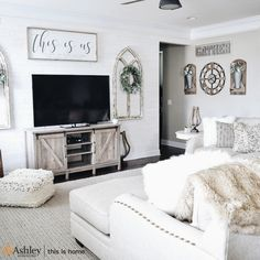 Be the Very First to Know What the Experts Think About Coastal Farmhouse Living Room Reveal - lowesbyte Living Room Tv, Living Room Remodel, Home And Living, Tv Stand Ideas For Living Room, Decor Around Tv, Over Tv Decor, Tv Area Decor, Decorating Around Tv, Living Room Designs