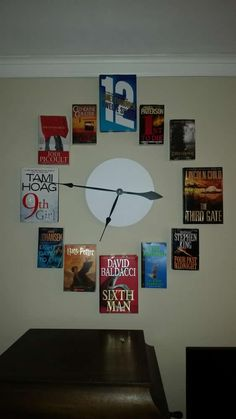 For all those who loved the Book Clock, full instructions here on how to create it, published with kind permission from the creator.