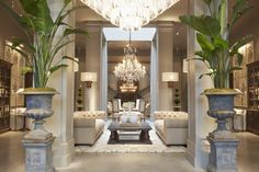 Restoration Hardware's Latest Store Delivers The Goods Much has been said about the death of retail stores, but Restoration Hardware chairman and CEO Gary Friedman has plans to defy the conventional wisdom: Restoration Hardware Living Room, Restoration Hardware Lighting, Office Restoration, Vintage Industrial Decor, Industrial Office, Industrial Farmhouse, Interior Exterior, Retail Interior, Luxury Interior