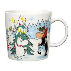 2013 ARABIA アラビア Moomin ムーミン クリスマスマグ (森のクリスマスツリー Under the tree) | 北欧雑貨|北欧デザインに限定した北欧雑貨通販サイト