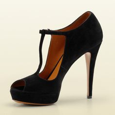 Gucci Betty T-Strap Open Toe High Heel Platform Pump