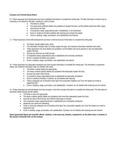 Compare and Contrast essay outline | Writing | Pinterest