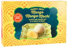 In a twist on the more traditional mochi-wrapped ice cream we've been selling in our stores for many years, Trader Joe's Mango Mango Mochi looks like ice cream, eats like ice...
