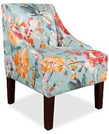 Glendale Paint Palette Fabric Accent Chair, Quick Ship, Only At Macyu0027s