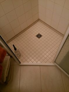 I Removed A Fiberglass Shower Pan And Replaced It With Tiles.