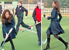 Kate Middleton shows off field-hockey moves in high style