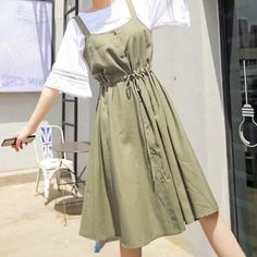 Cute Casual Outfits, Pretty Outfits, Stylish Outfits, Casual Dresses, Fashion Outfits, Fashion Tips, Korean Street Fashion, Asian Fashion, Aesthetic Fashion