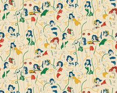 Dolly Girls pattern by Harriet Taylor Seed, via Behance