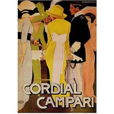 Trademark Fine Art Cordial Campari Canvas Art, 35x47, Multicolor