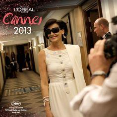 #Madame Inés de la Fressange #Look #MakeUp #Cannes