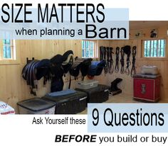 A barn is so much more than a home for your horses. Consider ALL your needs up front to ensure it& right for you (and them!) for many years to come. Barn Stalls, Horse Stalls, Horse Barns, Horses, Dream Stables, Dream Barn, Barn Layout, Horse Farm Layout, Architecture Design