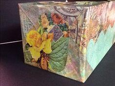 Tissue box #1b ~ ©NSoppelsa ~ #collage #art #cat #decoupage #ephemera #decor