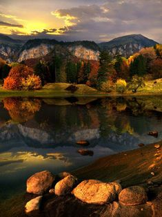 High mountain lake, Montana
