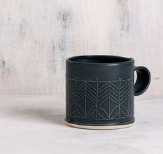 Ceramic black mug, Black Porcelain Mug, Porcelain Coffee Cup, Modern Ceramic Cup, Black Tea Cup, minimalist coffee cup, mothers day gift by FreeFolding on Etsy