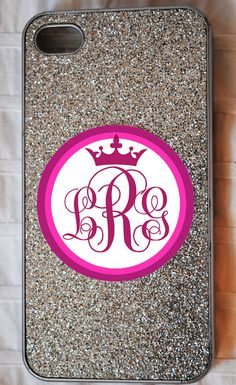Pageant Crown Monogram iPhone / Cellphone Decal