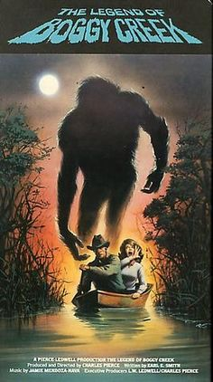 """""""The Legend of Boggy Creek"""" ~ More of a documentary about a Bigfoot-like monster roaming the area around Foulke, Arkansas Sci Fi Horror, Horror Films, Sci Fi Movies, Scary Movies, Bigfoot Movies, Bigfoot Photos, Scary Monsters, Classic Horror Movies, Horror Movie Posters"""