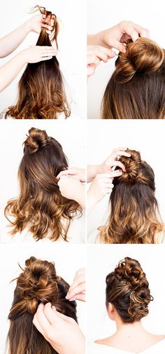 Day to night daring with this messy faux mohawk bun!