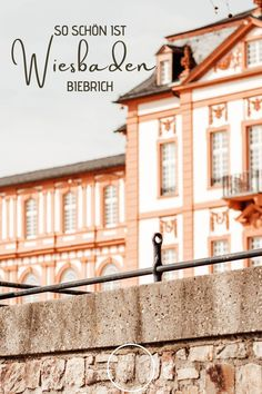 Biebrich liegt nur wenige Kilometer vom Stadtzentrum entfernt, im Süden von Wiesbaden. Die wunderschöne Lage direkt am Rhein, verleiht dem Stadtteil einen ganz besonderen Charme. Bereits im 18. Jahrhundert zog es die Herzöge von Nassau genau hier her. Nassau, Frankfurt, Nature Activities, Day Trips