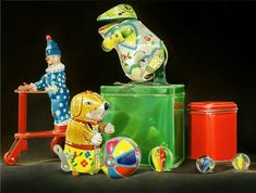 Wijnand Warendorf   OIL Toy 2, Still Life, Marbles, Marble, Sculptures