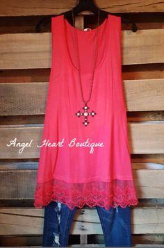 Extender: Slip on Tank/Tunic - Pink - Emerald - Dress - Angel Heart Boutique