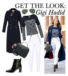 """Get The Look: Gigi Hadid"" by obuoliukas69 ❤ liked on Polyvore featuring Ray-Ban and tommyxgigi"