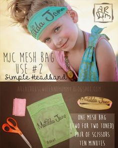 """Matilda Jane Mesh Bag Use #2 -Simple MJ Headband 