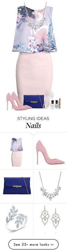 """Blossom"" by daisyfari on Polyvore featuring Boohoo, ALDO, Christian Louboutin, Givenchy, Deborah Lippmann and Stephen Webster"