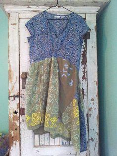 Upcycled Clothing / Funky Tunic Dress /  by CuriousOrangeCat, $68.00