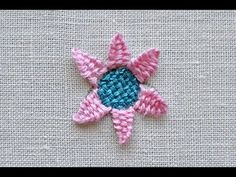 woven sunflower - flower embroidery tutorial - Pumora