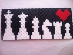 King to Pawn Chess Piece Perler Bead by KcranceArt