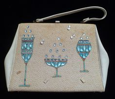 Pegie by the Sea blue beverages purse