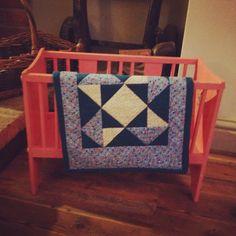 Mill wheel block dolly quilt