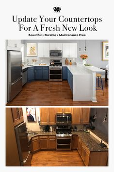1 Update Your Countertops For A Fresh New Look Whether it's a kitchen or bathroom remodel, Cambria® Kitchen Redo, Home Decor Kitchen, New Kitchen, Home Kitchens, Kitchen Remodel, Kitchen Cabinets, Best Kitchen Design, French Country Kitchens, Up House