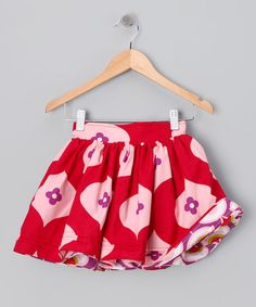 Take a look at this Red & Purple Reversible Skirt - Infant, Toddler & Girls by Right Bank Babies on #zulily today!