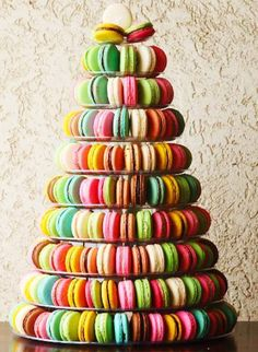 Princess Madeleine'ss wedding cake of 700 French macarons. Lovely!