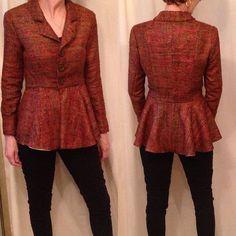 Blouse Batik, Peplum, Sewing, Image, Tops, Women, Fashion, Moda, Dressmaking