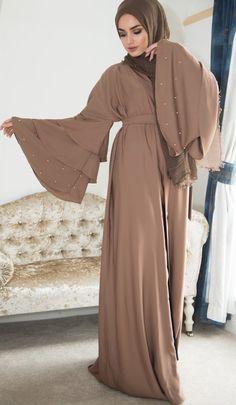 abaya fashion Pearl Bell Abaya - Ready To Dispatch Aaliya Collections Abaya Fashion, Muslim Fashion, Modest Fashion, Fashion Fashion, Fashion Ideas, Vintage Fashion, Eid Outfits, Fashion Outfits, New Abaya Style