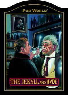JEKYLL AND HYDE English Pub Sign | Inn Tavern | Home Bar