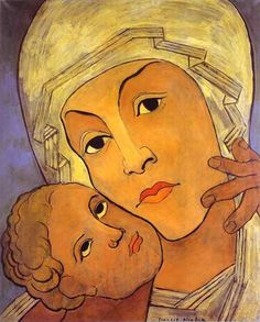 Francis Picabia, Virgin with Infant, Oil on canvas, 1933-35