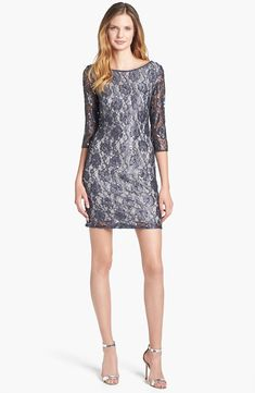 Pisarro nights beaded illusion yoke dress nordstrom for Cocktail 1789